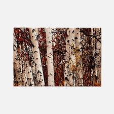 fall landscape birch tree Magnets