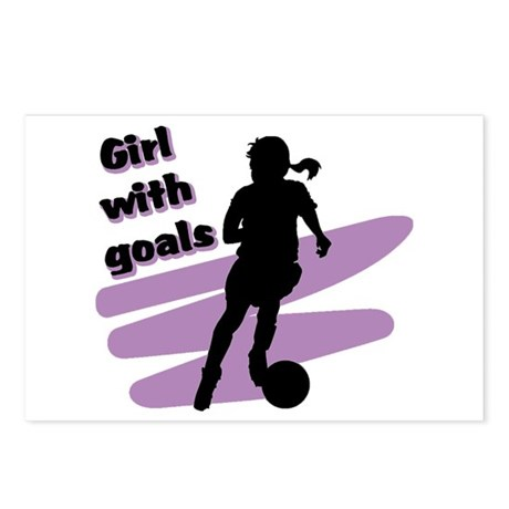 Girl with goals Postcards (Package of 8)