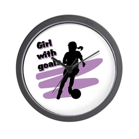 Girl with goals Wall Clock