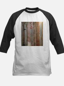 rustic western barn wood Baseball Jersey