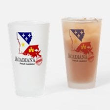 Acadiana French Louisiana Cajun Drinking Glass
