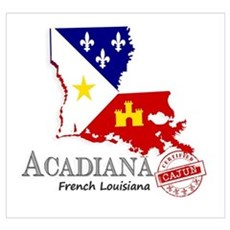 Acadiana French Louisiana Cajun Framed Print