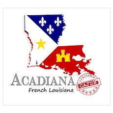 Acadiana French Louisiana Cajun Poster