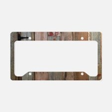 rustic western barn wood License Plate Holder