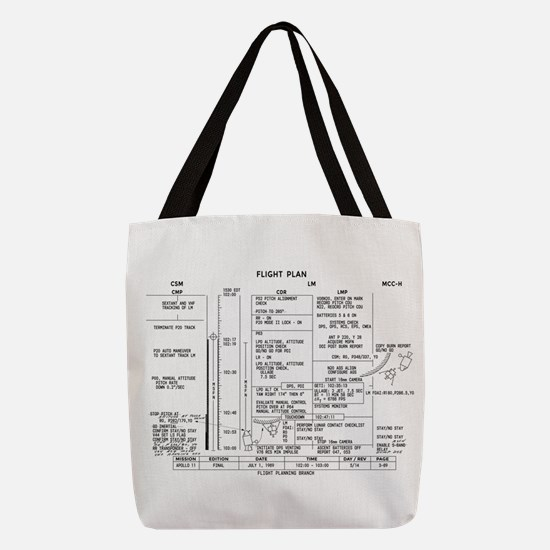 Apollo 11 Flight Plan Polyester Tote Bag