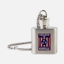 I believe in Nashville Flask Necklace