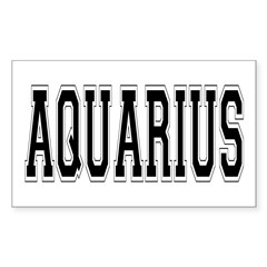 Aquarius Rectangle Decal