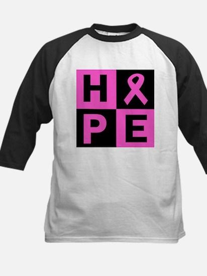 Breast Cancer Awareness hope Kids Baseball Jersey