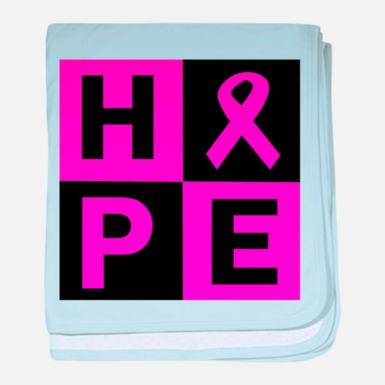 Breast Cancer Awareness hope baby blanket