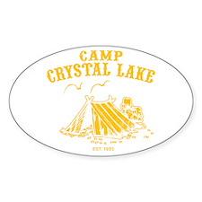 Camp Crystal Lake Oval Decal