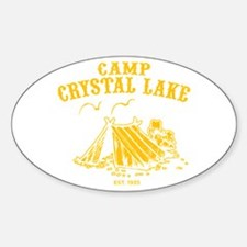 Camp Crystal Lake Oval Decal