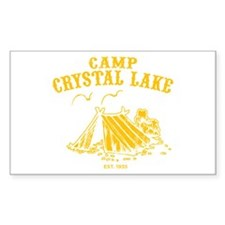 Camp Crystal Lake Rectangle Decal