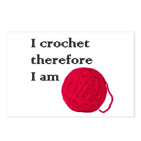 I Crochet Therefore I am Postcards (Package of 8)
