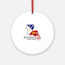 Acadiana French Louisiana Cajun Round Ornament