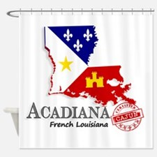 Acadiana French Louisiana Cajun Shower Curtain
