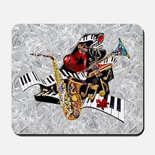 Music Decor Piano Sax Swirl Music Art Pr Mousepad