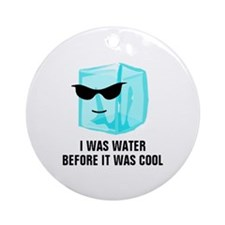 Ice Cube I Was Water Before It Was  Round Ornament