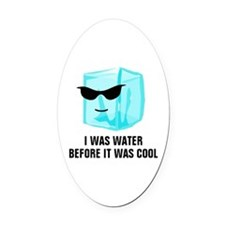 Ice Cube I Was Water Before It Was Oval Car Magnet