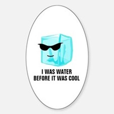 Ice Cube I Was Water Before It Was  Sticker (Oval)