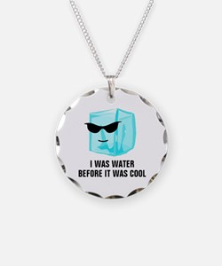 Ice Cube I Was Water Before  Necklace