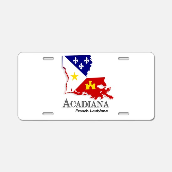 Acadiana LA Aluminum License Plate