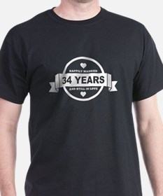 Happily Married 34 Years T-Shirt