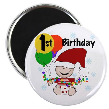 1st Holiday Birthday Magnet