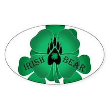 Irish Bear Oval Decal