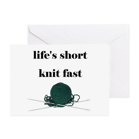 Life's Short Knit Fast Greeting Cards (Package of