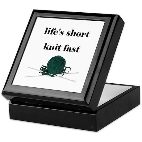 Life's Short Knit Fast Keepsake Box