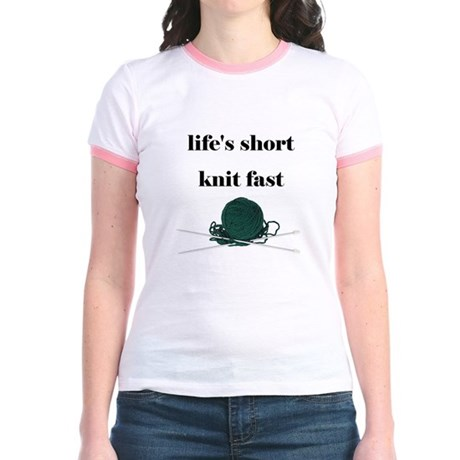 Life's Short Knit Fast Jr. Ringer T-shirt