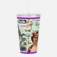 Talk Nerdy To Me Acrylic Double-Wall Tumbler