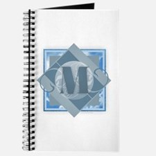 M Monogram - Letter M - Blue Journal
