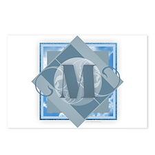 M Monogram - Letter M - B Postcards (Package of 8)