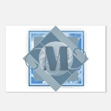 M Monogram - Letter M - B Postcards (Package of 8)