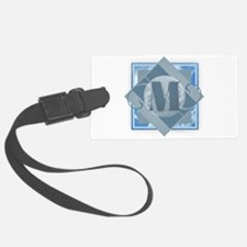 M Monogram - Letter M - Blue Luggage Tag