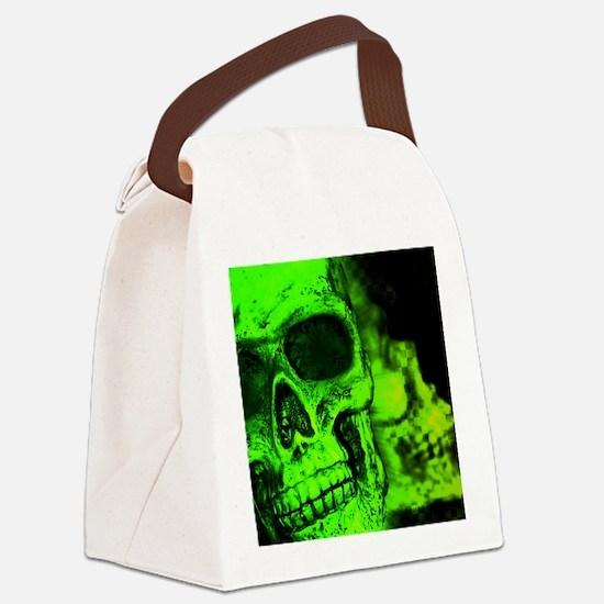 Funny Skull Canvas Lunch Bag