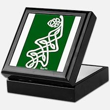White Oak Leaf on Green Keepsake Box