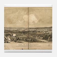 San Francisco, CA 1851 Tile Coaster