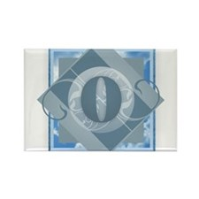 O Monogram - Letter O - Blue Magnets