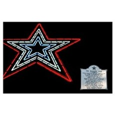 Star with Plaque Poster
