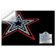 Star with Plaque Wall Decal