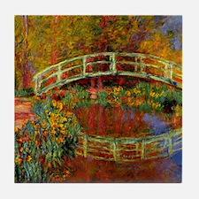 Monet - The Japanese Bridge Tile Coaster