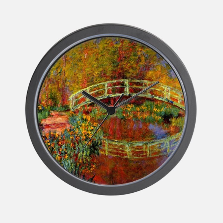 Monet - The Japanese Bridge Wall Clock