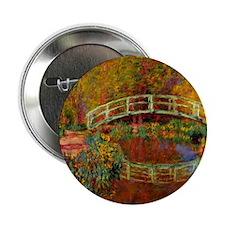 "Monet - The Japanese Bridge 2.25"" Button"