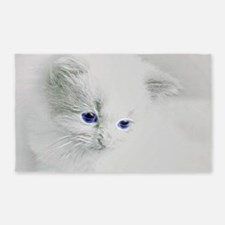 White Kitten Area Rug