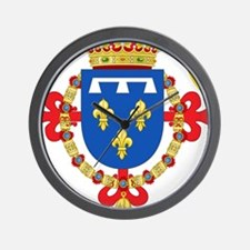 Red Crown Coat of Arms Wall Clock