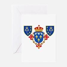 Red Crown Coat of Arms Greeting Cards