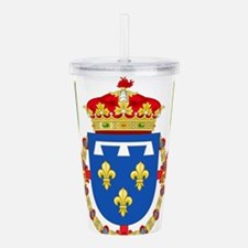 Red Crown Coat of Arms Acrylic Double-wall Tumbler