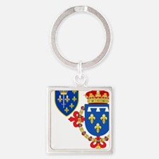 Red Crown Coat of Arms Keychains